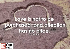 Love is not to be purchased