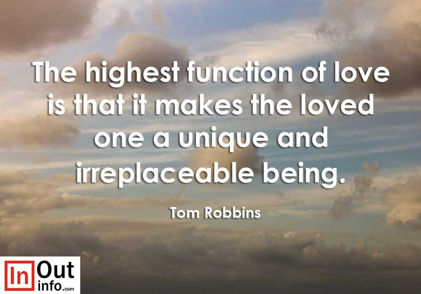 love is that it makes the loved one a unique